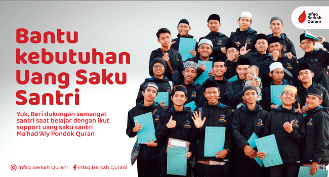 Read more about the article Sedekah untuk Santri Penghafal Quran